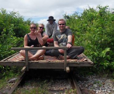 De Bamboo Train van Battambang