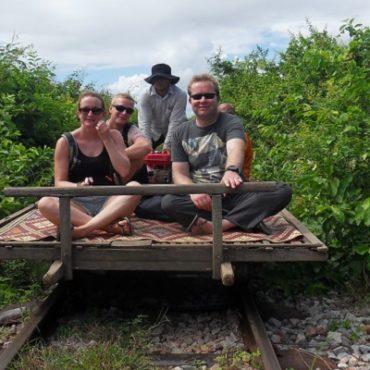 De Bamboo Train in Battambang