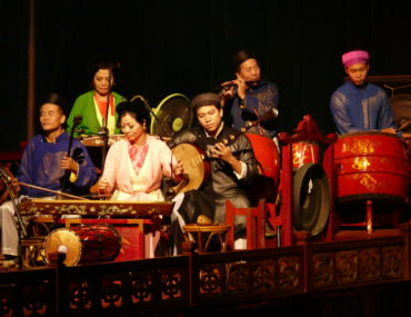 Het Thang Long Waterpoppentheater in Hanoi