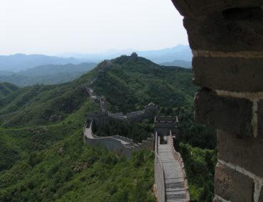 De Chinese Muur bij Jinshanling
