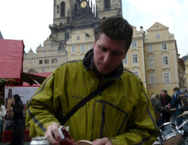 Het oude stadsplein van Praag