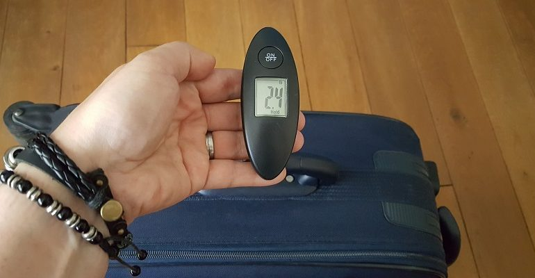 Digitale bagageweegschaal